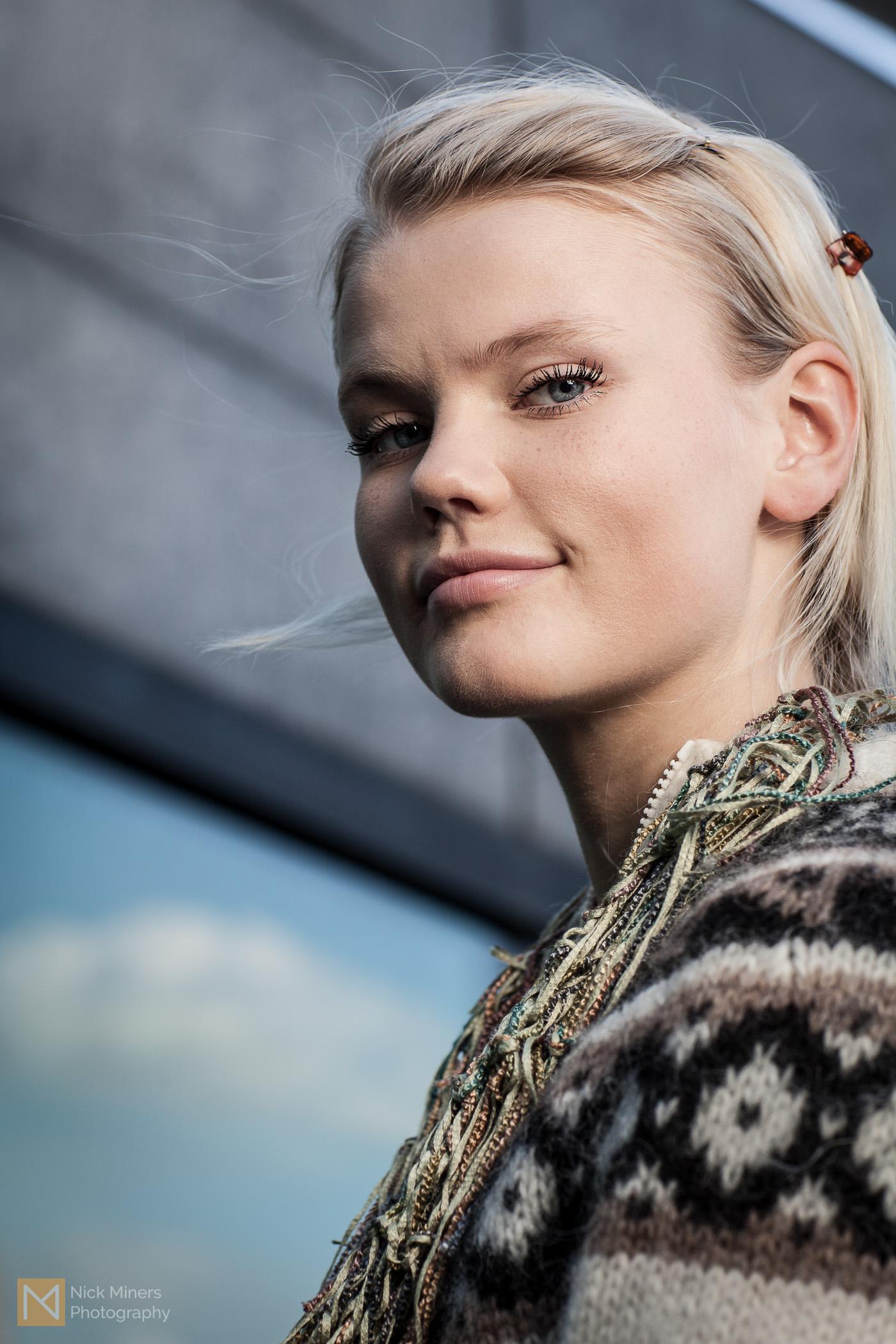 Hjördís and her scarf